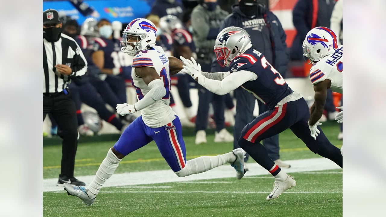 Stefon Diggs (14) Buffalo Bills vs New England Patriots at Gillette Stadium on December 28, 2020. Photo by  Craig Melvin