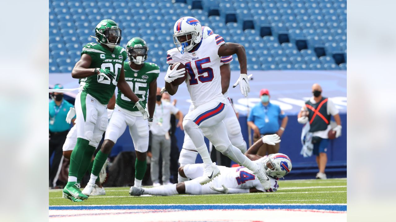 John Brown (15) touchdown Buffalo Bills vs New York Jets, September 13, 2020 at Bills Stadium.
