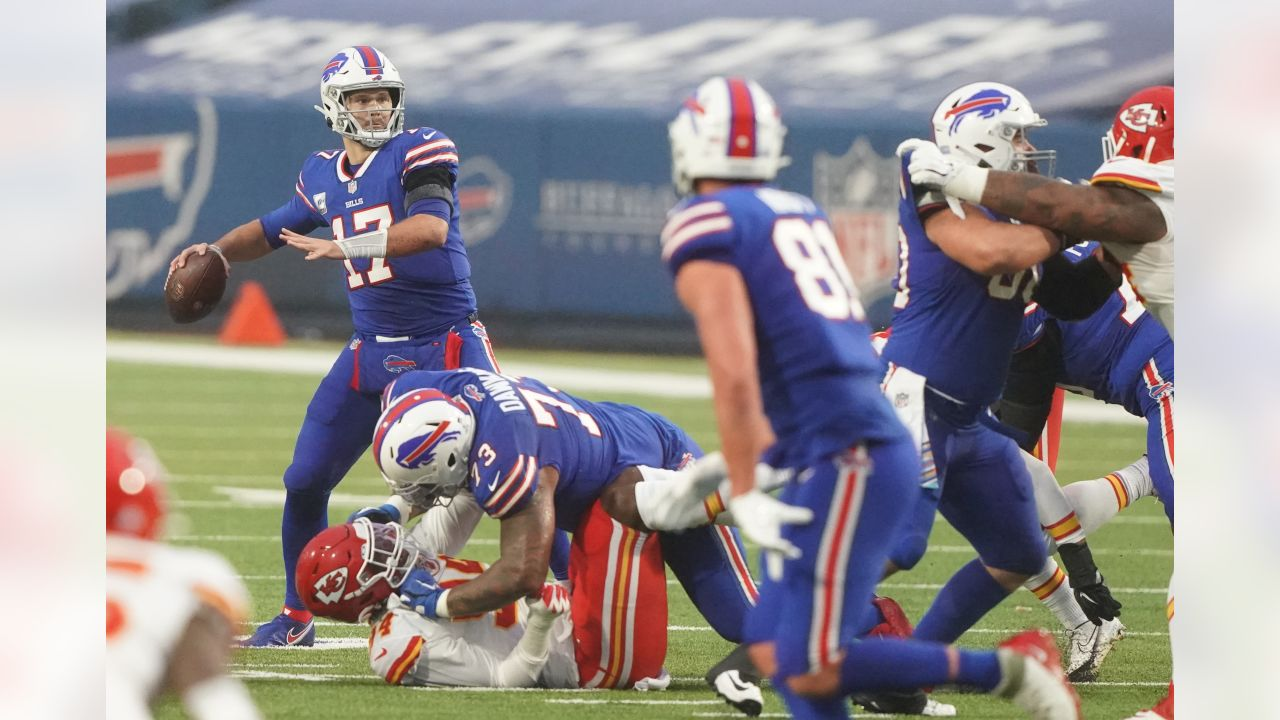 Josh Allen (17) Buffalo Bills vs Kansas City Chiefs, October 19, 2020 at Bills Stadium.