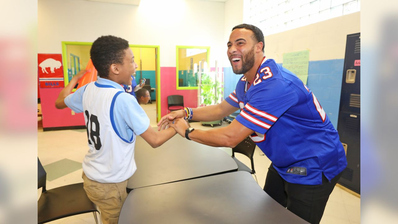 Buffalo Bills take part in the Inspire Change Outreach Day at the Boys & Girls Clubs of Buffalo on May 6, 2019.