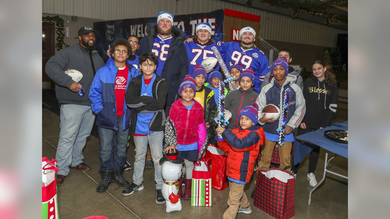 Buffalo Bills Toyota Rookie Club players take part in the Festival of Lights party December 11, 2018.      (Photos by: Nicholas T. LoVerde)