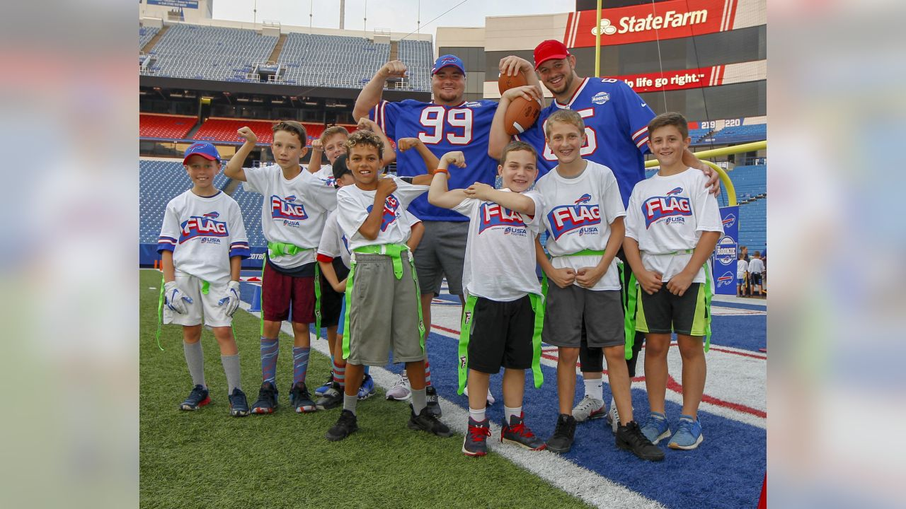 September 18, 2018:  during the 2018 Buffalo Bills Rookie Fan Clinic at New Era Field in Orchard Park, N.Y..    (Nicholas T. LoVerde/Cal Sport Media)