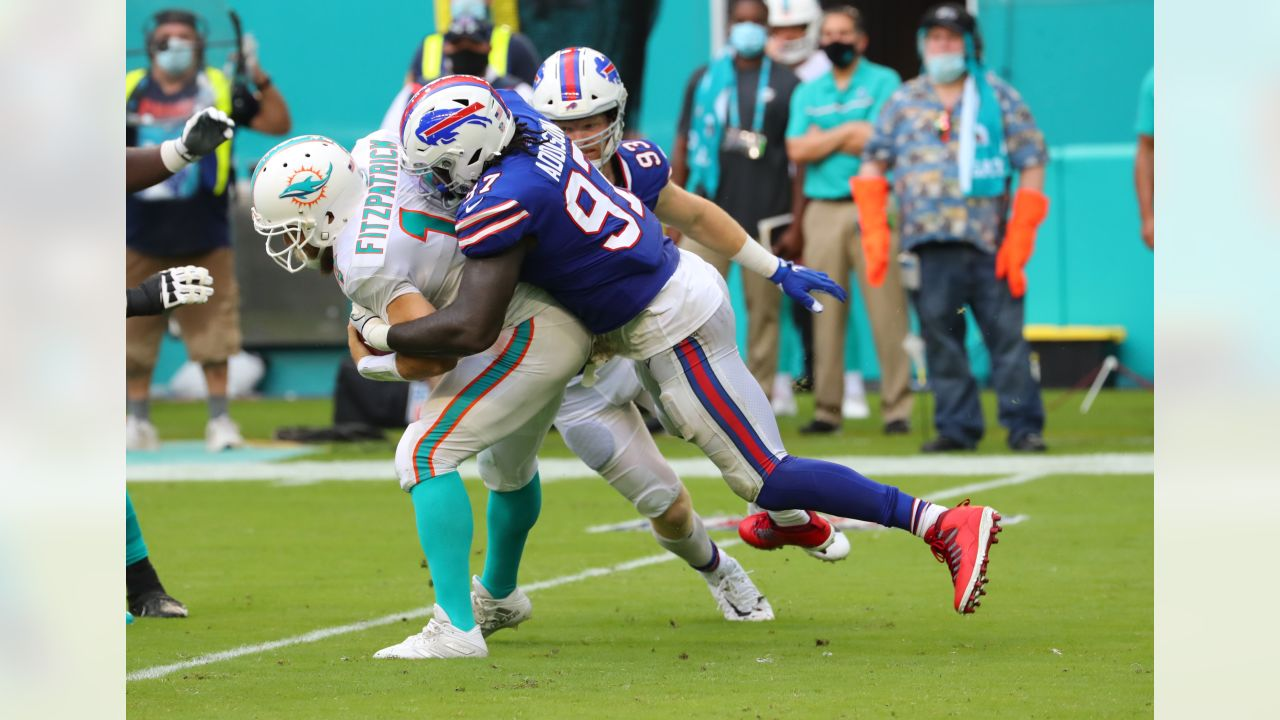 Mario Addison (97) Buffalo Bills vs Miami Dolphins, September 20, 2020 at Hard Rock Stadium.