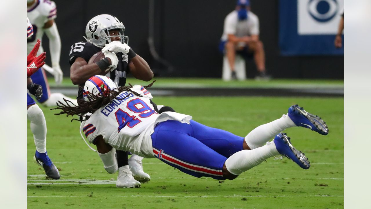 Tremaine Edmunds (49) Buffalo Bills vs Las Vegas Raiders, October 4, 2020 at Allegiant Stadium.