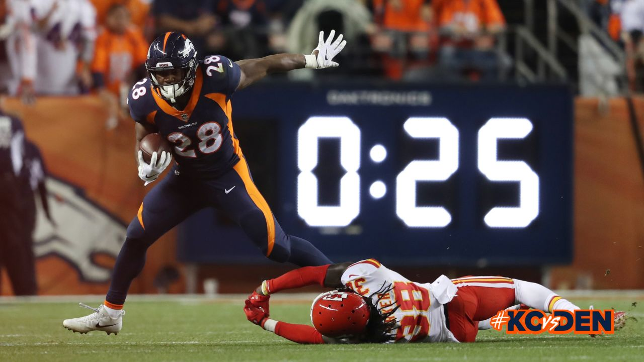 Denver Broncos action against the Kansas City Chiefs during the game at Broncos Stadium at Mile High in Denver, Colorado, October 01, 2018.Photo by Gabriel Christus