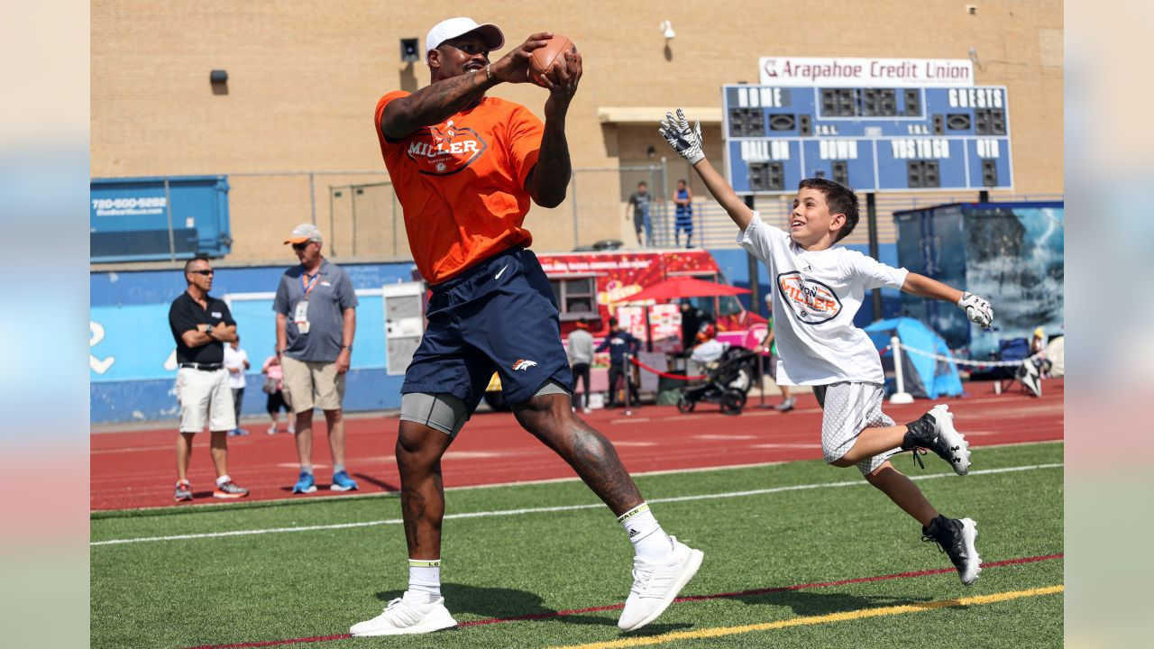 At Von Miller's Football Procamp at Englewood High School on June 20, 2018.