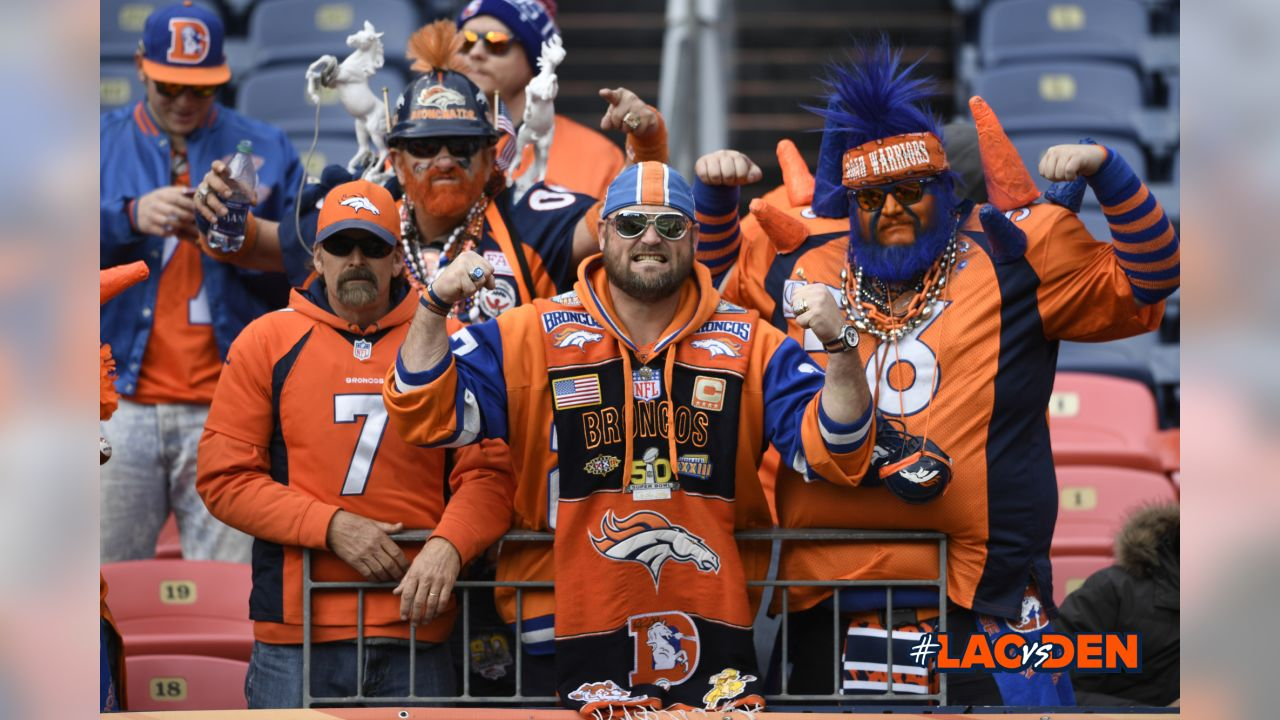 Fans pregame prior to the NFL game against the Los Angeles Chargers, Sunday, December 30, 2018, in Denver. (Photo: © Eric Lars Bakke)