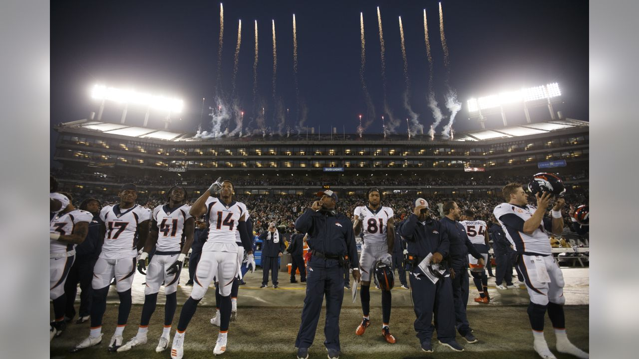 Denver Broncos action against the Oakland Raiders during the game at Oakland-Alameda County Coliseum in Oakland, California, December 24, 2018.Photo by Gabriel Christus