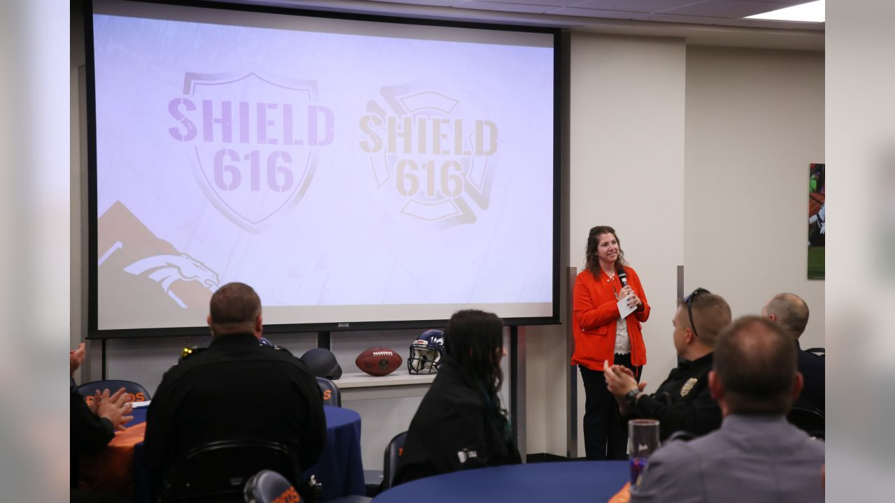 The Broncos presented more than 100 SHIELD616 advanced protective kits to first responders from local urban and rural communities on December 20, 2018. Players and the organization donated more than $200,000 to the cause.