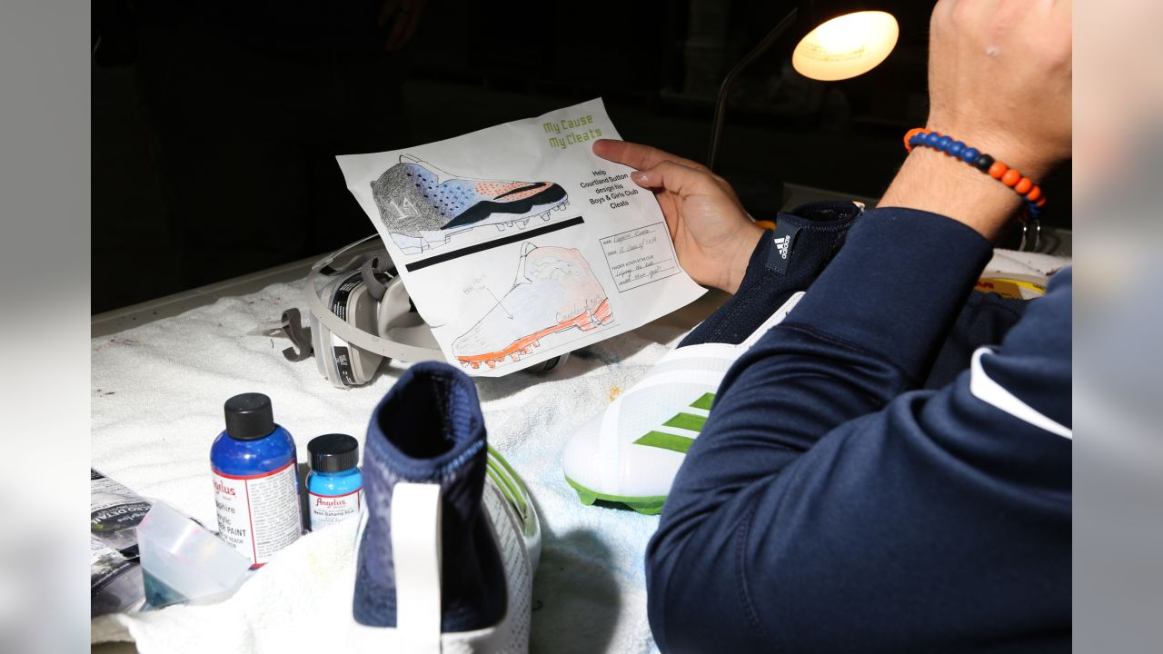 An inside look at the painting process for Courtland Sutton's cleats representing Boys & Girls Clubs of America for the 2018 My Cause My Cleats campaign.
