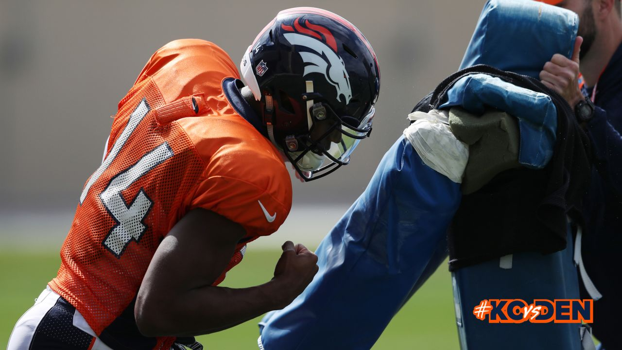 Courtland Sutton action during practice at UCHealth Training Center in Centennial, CO, September 28, 2018.Photo by Gabriel Christus