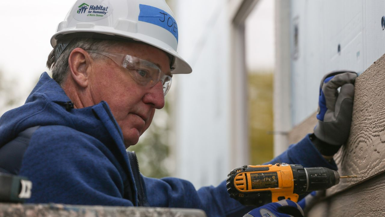 President and CEO Joe Ellis at the fifth annual Habitat for Humanity of Metro Denver CEO Build at Habitat's Sheridan Square Community. The Build included participation from more than CEOs representing Denver-area industries including IT, oil & gas and banking.