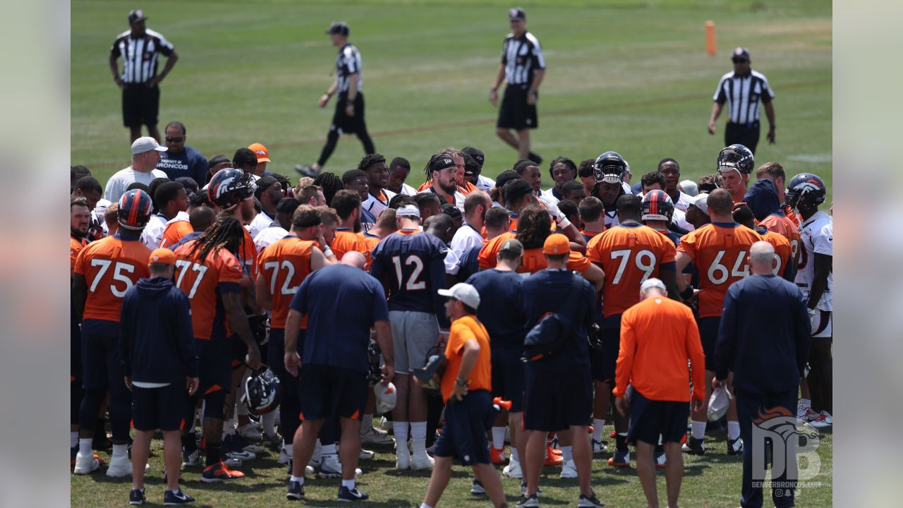 action during minicamp at UCHealth Training Center in Centennial, CO, June 14, 2018.Photo by Gabriel Christus