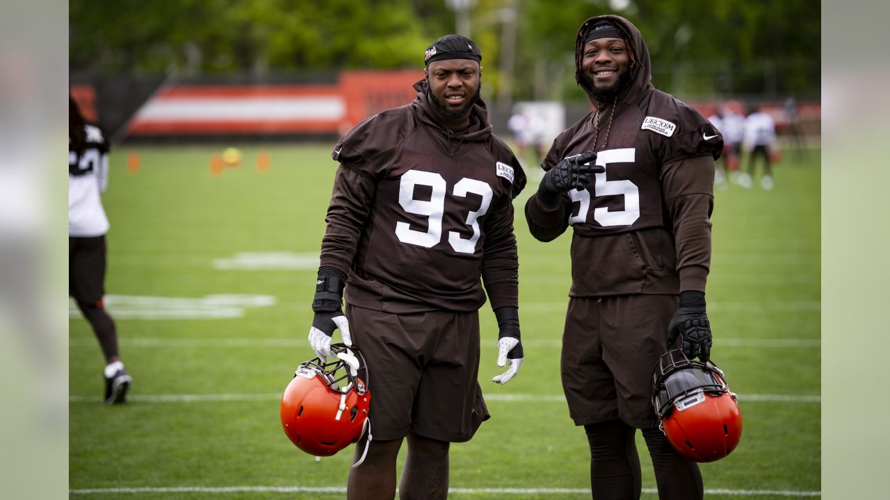 Defensive tackle Trevon Coley (93) and Defensive tackle Larry Ogunjobi (65) during the fifth practice of OTAs on May 22, 2019.