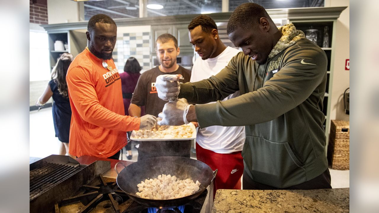 The rookies visited the Strongsville Market District on June 10, 2019 for a cooking class.