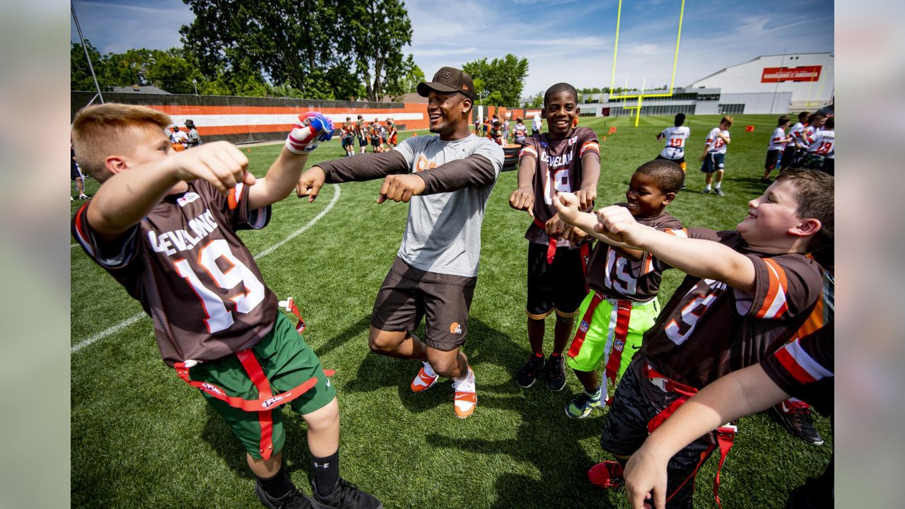 Browns Youth Football Camp at the Berea Facility on June 19, 2019