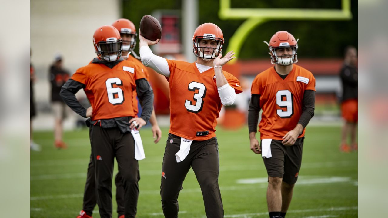Quarterback Garrett Gilbert (3) during the fifth practice of OTAs on May 22, 2019.