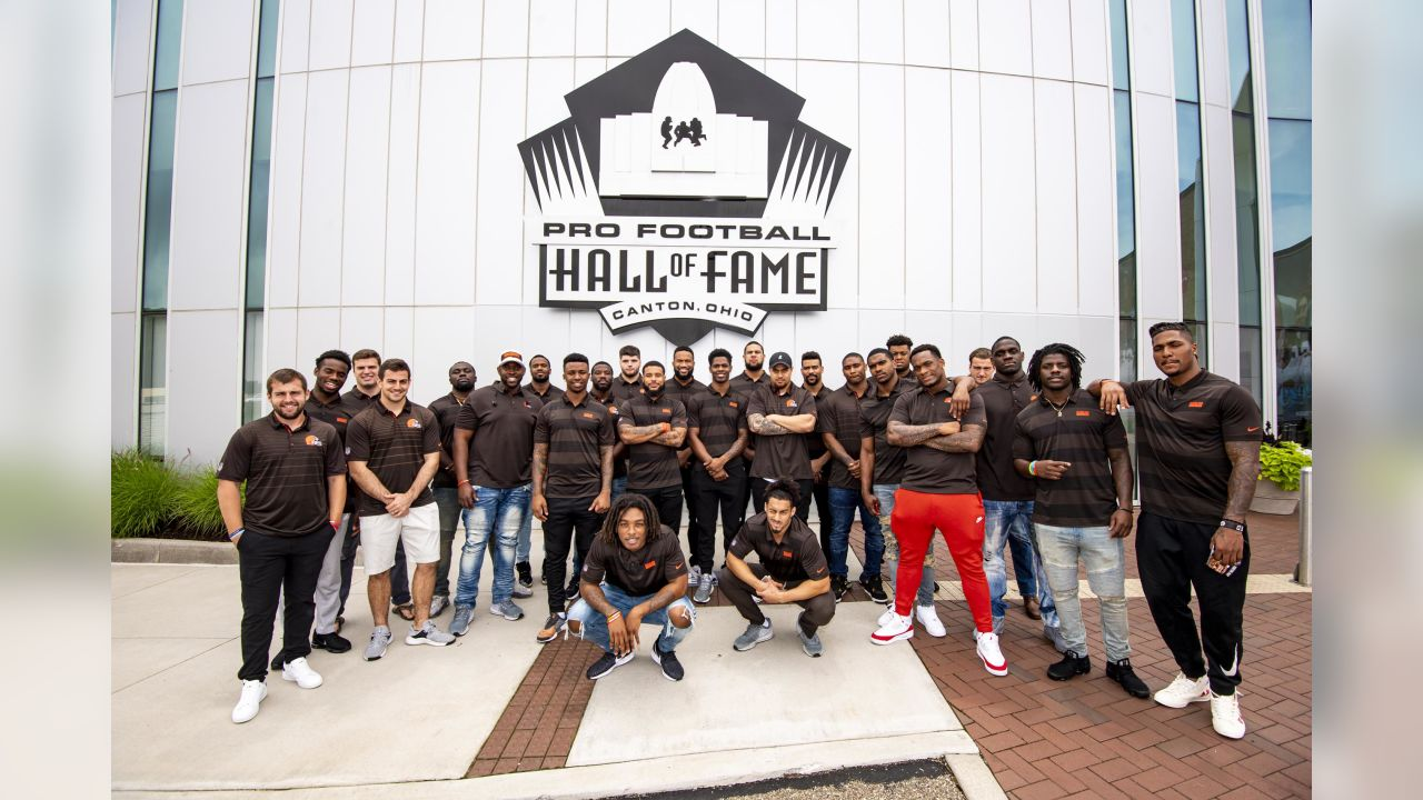 Browns rookies visited the Pro Football Hall of Fame Tuesday