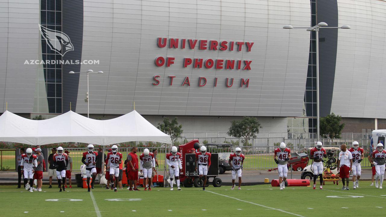Practice outside the stadium.