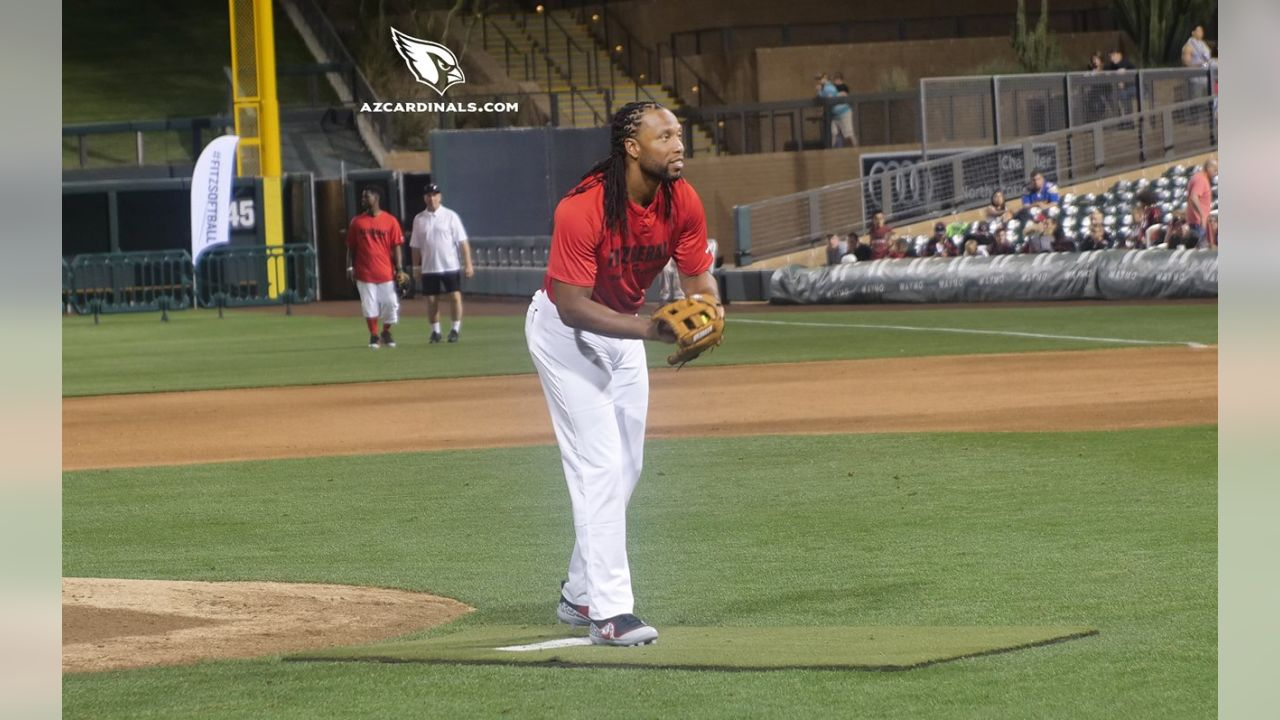 WR Larry Fitzgerald on the mound