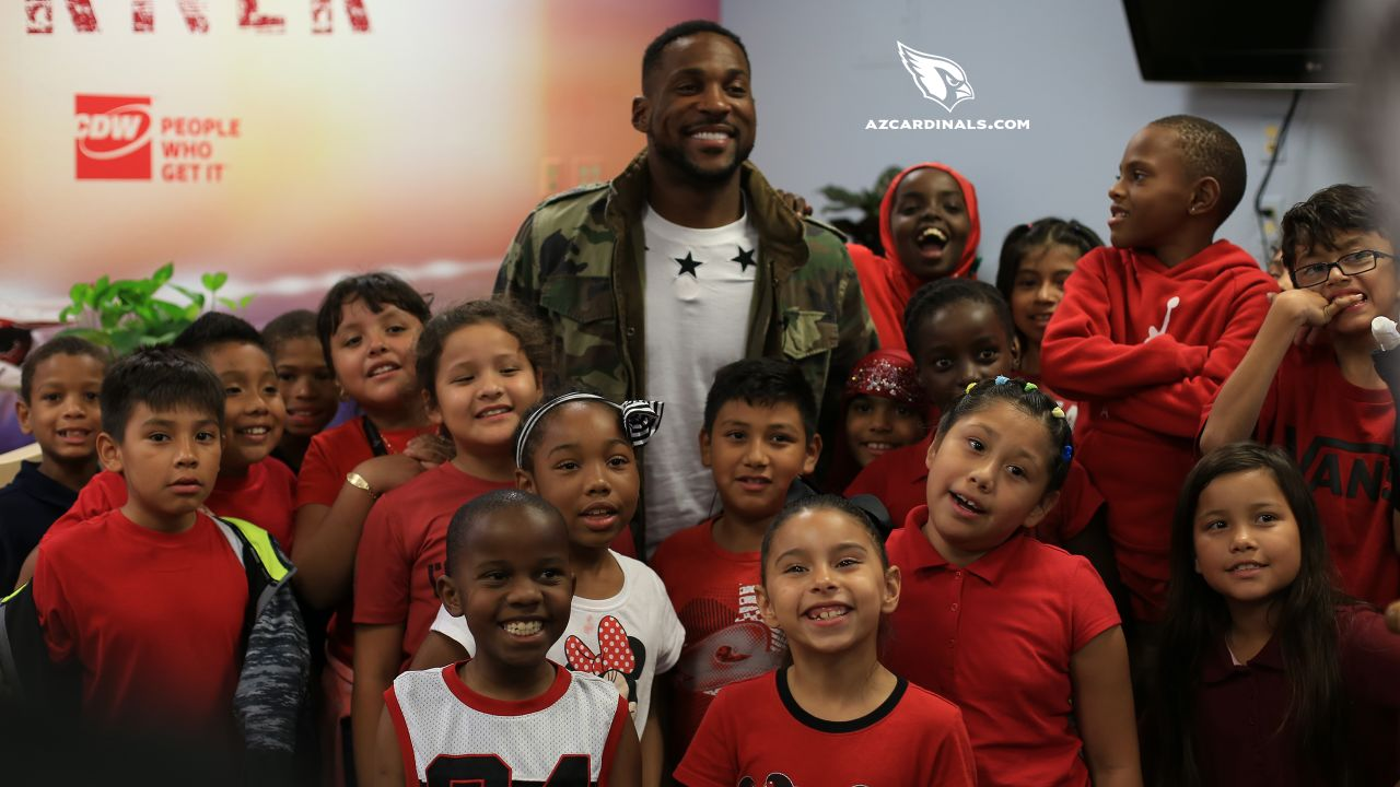 CB Patrick Peterson creates a reading room at David Crockett Elementary where kids can learn comfortably