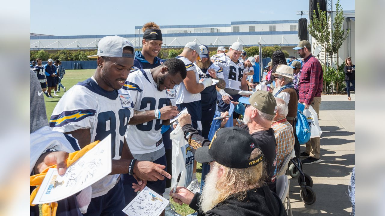 Los Angeles Chargers Community Relations Boots and Bolts at Hoag Performance Center on Friday October 5, 2018.