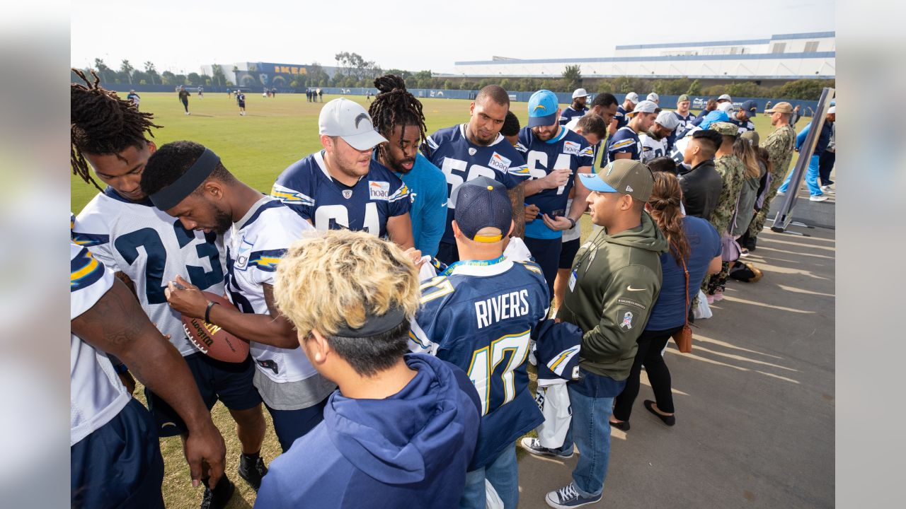 Los Angeles Chargers host Boots and Bolts at Hoag Performance Center on Friday, Dec. 21, 2018 in Costa Mesa, CA.