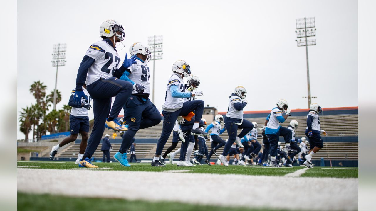 Los Angeles Chargers practice at Orange Coast College on Wednesday, Dec. 5, 2018 in Costa Mesa, CA.