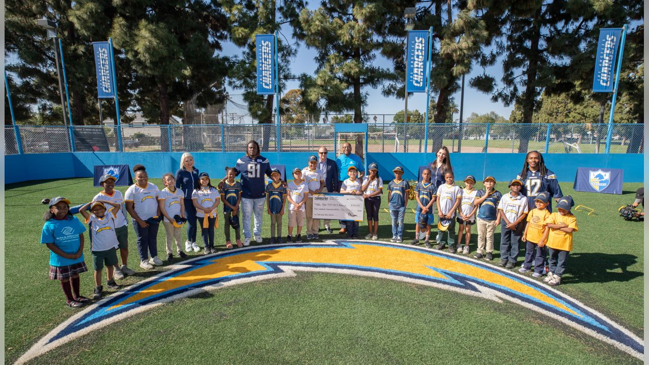 Chargers Hold Ribbon-Cutting Ceremony for New Athletic Field and Teen Center at Boys & Girls Club Watts / Willowbrook Clubhouse on Wednesday, April 24, 2019.