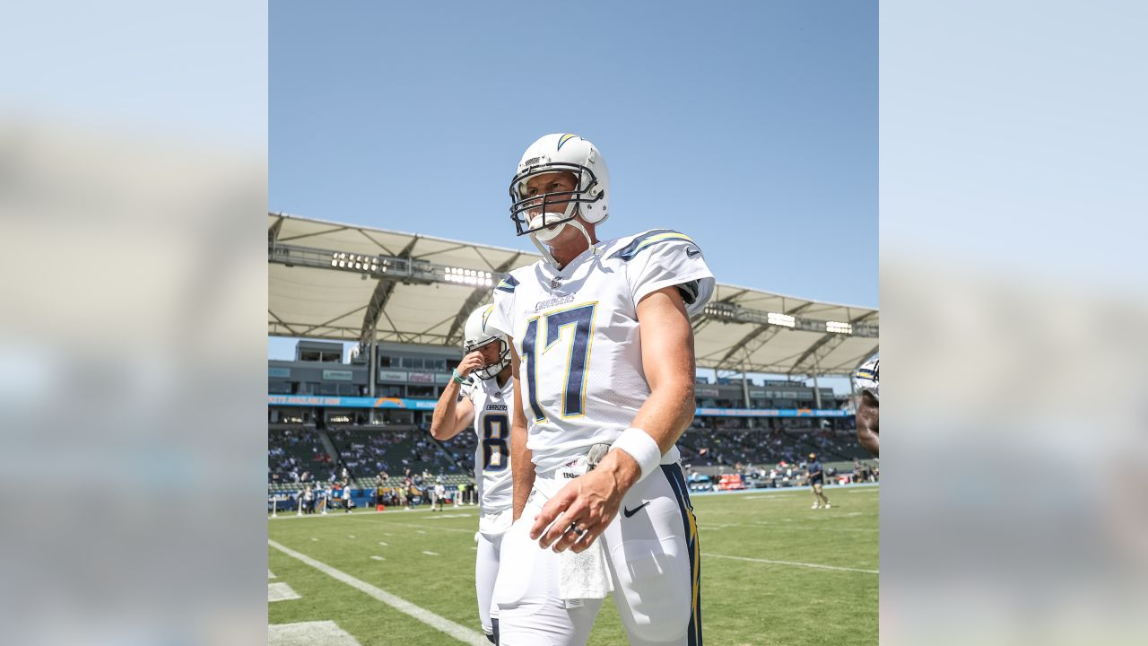 Philip Rivers takes the field against the Kansas City Chiefs in the season opener from ROKiT Field at StubHub Center.