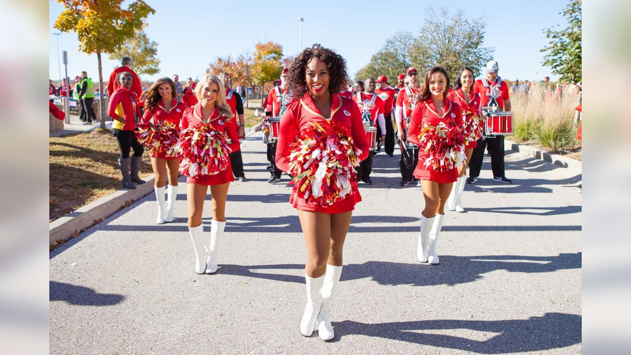 A look at the Kansas City Chiefs Cheerleaders during the Chiefs vs Broncos game