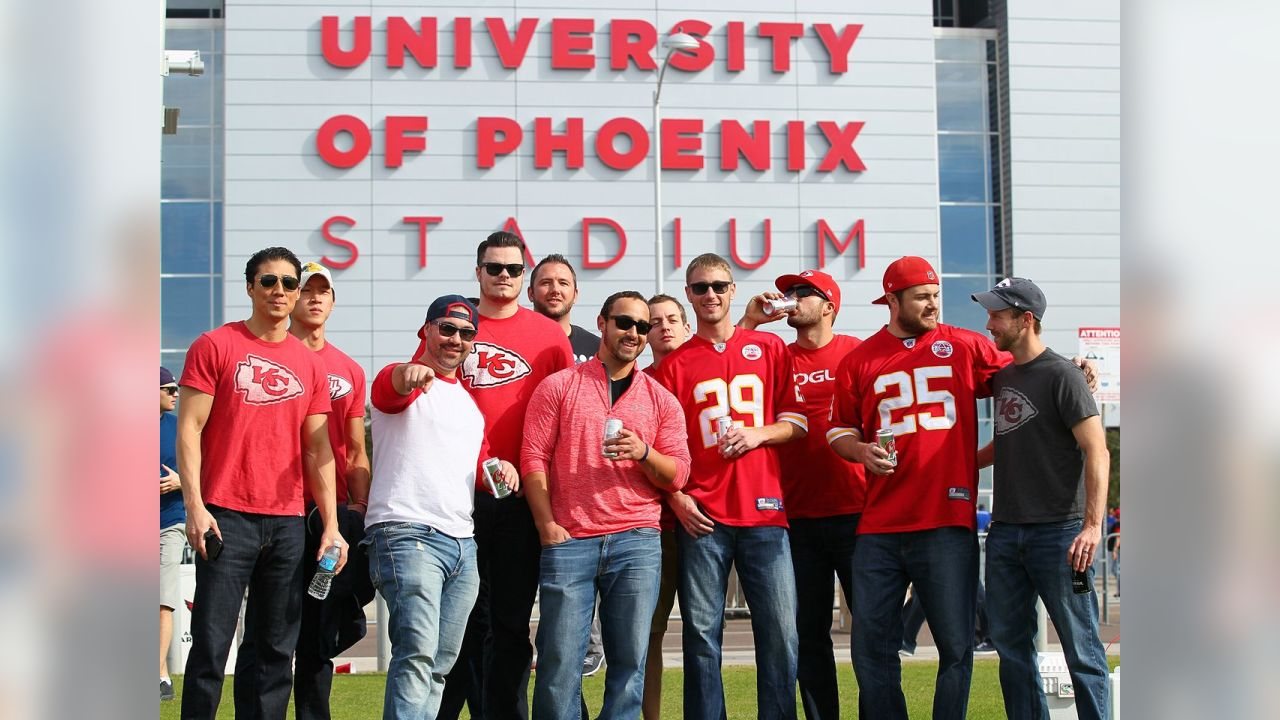 Kansas City fans from the Chiefs vs. Cardinals game