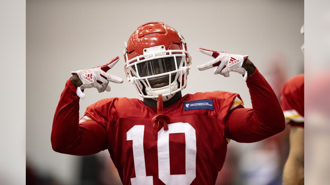 Kansas City Chiefs wide receiver Tyreek Hill (10) during practice on 9/5/18