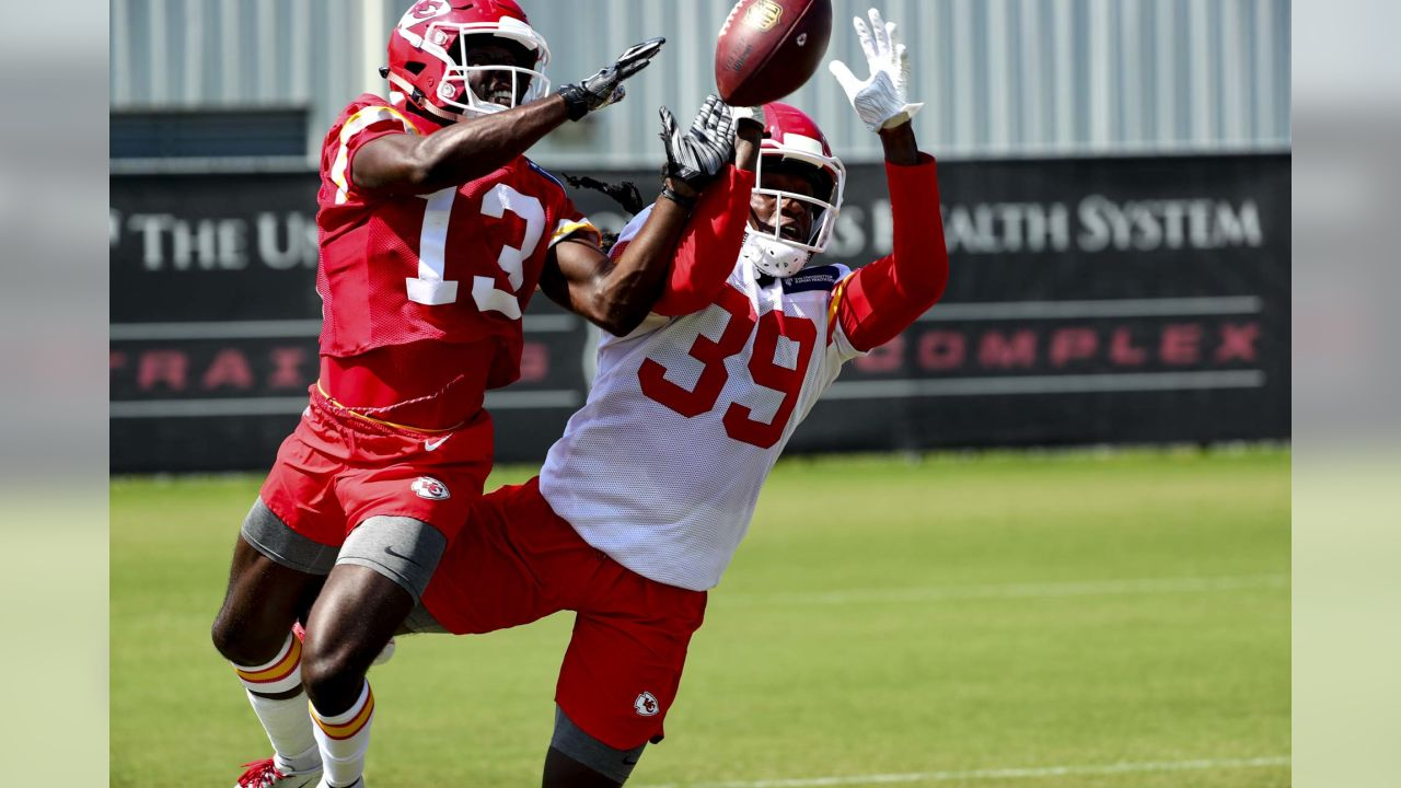 Kansas City Chiefs defensive back Tremon Smith (39) during practice on 8/27/18