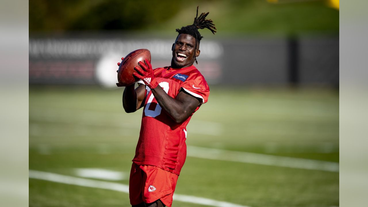 Kansas City Chiefs wide receiver Tyreek Hill (10) during practice on 11/7/18