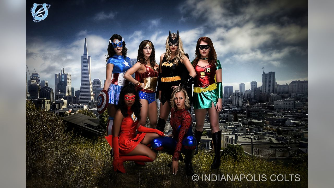 A fun look back at the Colts Cheerleaders in action during their 2016 creative photo shoot dressed as their favorite superheroes.