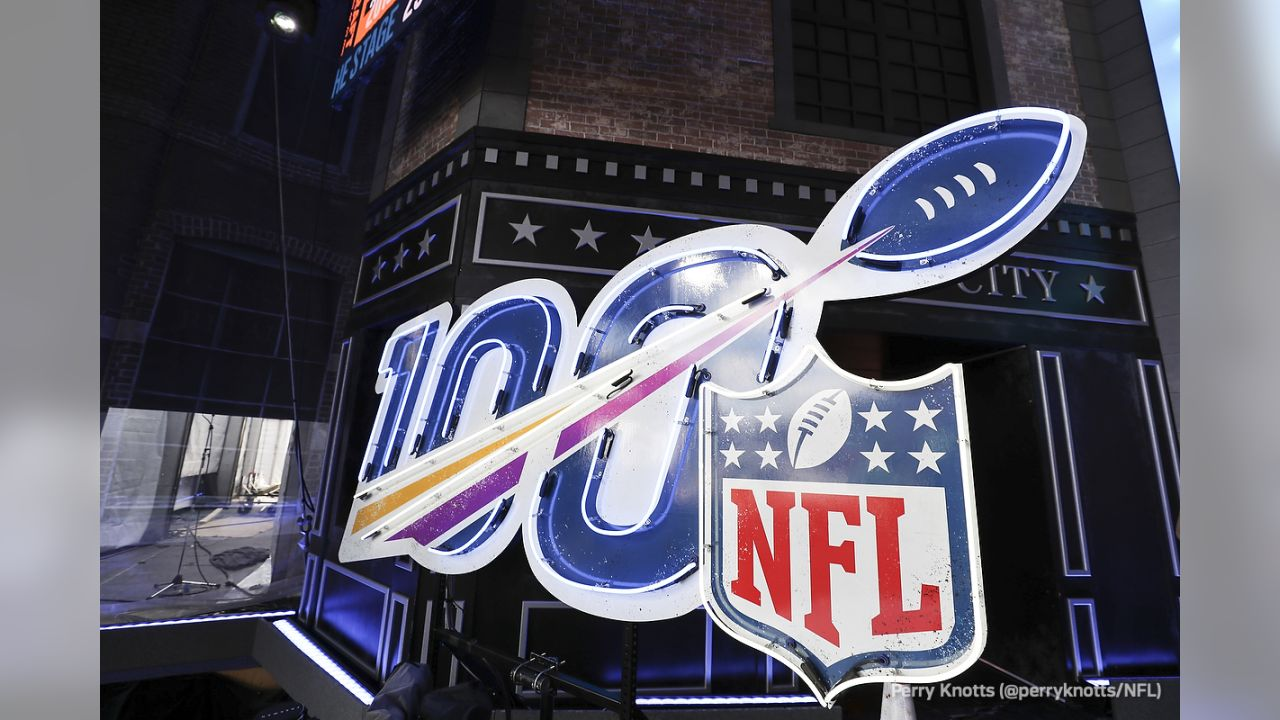 A general, overall view of the stage  ahead of the 2019 NFL Draft on Wednesday, Apr 24, 2019 in Nashville, Tenn. (Perry Knotts/NFL)