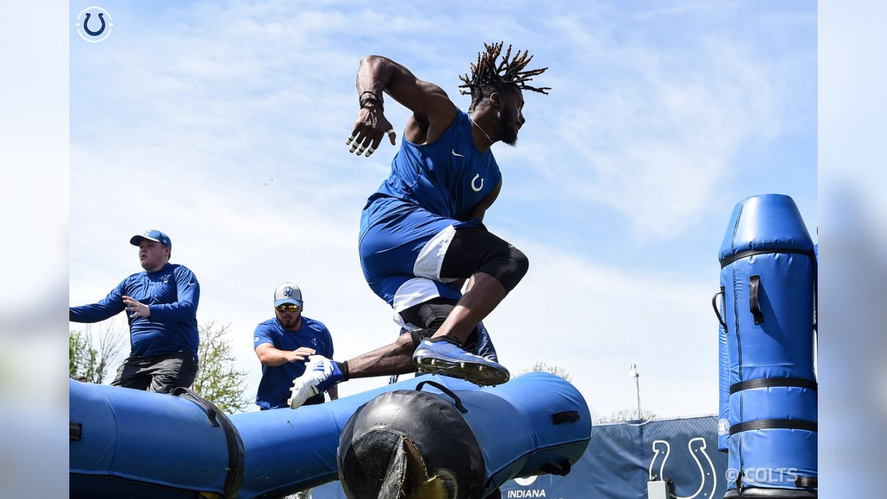 The Colts hit the field during phase II of their off season training.