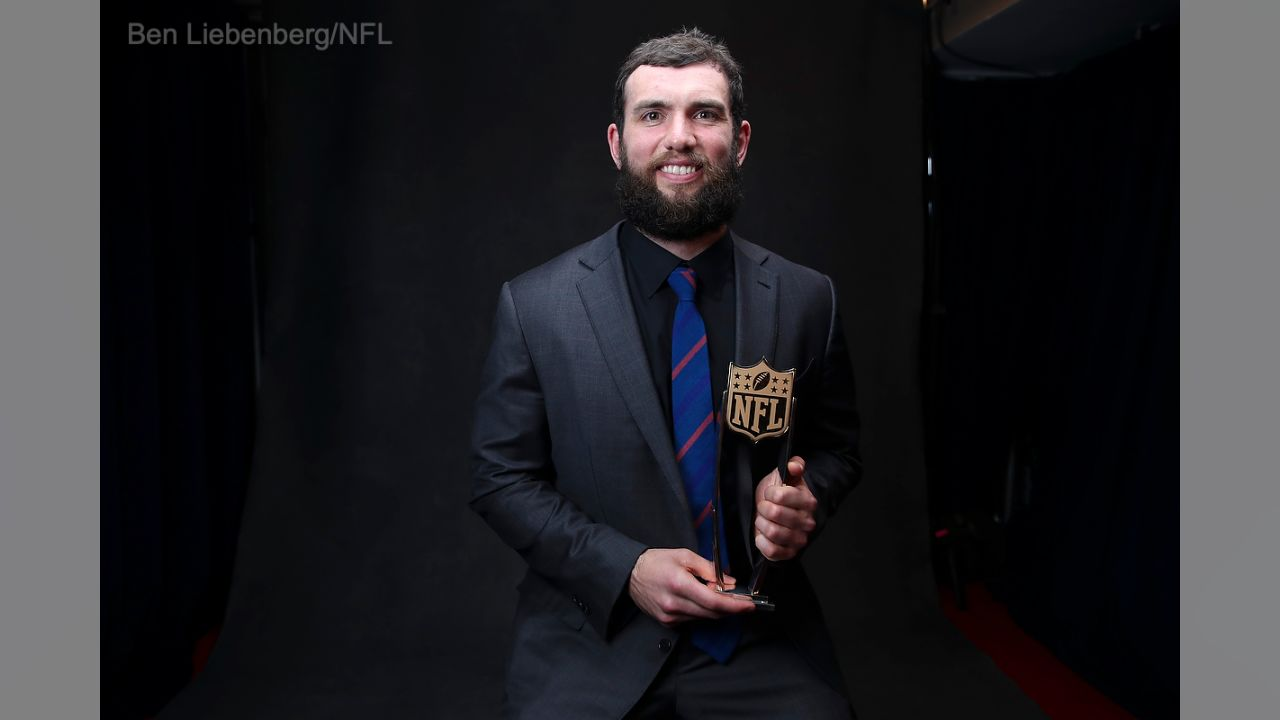 Indianapolis Colts quarterback Andrew Luck (12)  during the NFL Honors awards show, Saturday, Feb. 2, 2019 in Atlanta. (Ben Liebenberg/NFL)