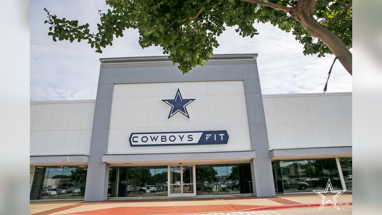25 June 2019:   Views of officials at the ribbon cutting at Cowboys Fit Plano in Plano, Texas, including Dallas Cowboys Chief Brand Officer Charlotte Jones Anderson, Cowboys Fit development partner Mark Mastrov, and Plano Mayor Harry LaRosiliere.   Photo by James D. Smith/Dallas Cowboys