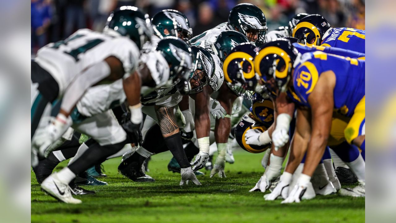 Philadelphia Eagles vs. Los Angeles Rams at the Los Angeles Memorial Coliseum on December 16, 2018