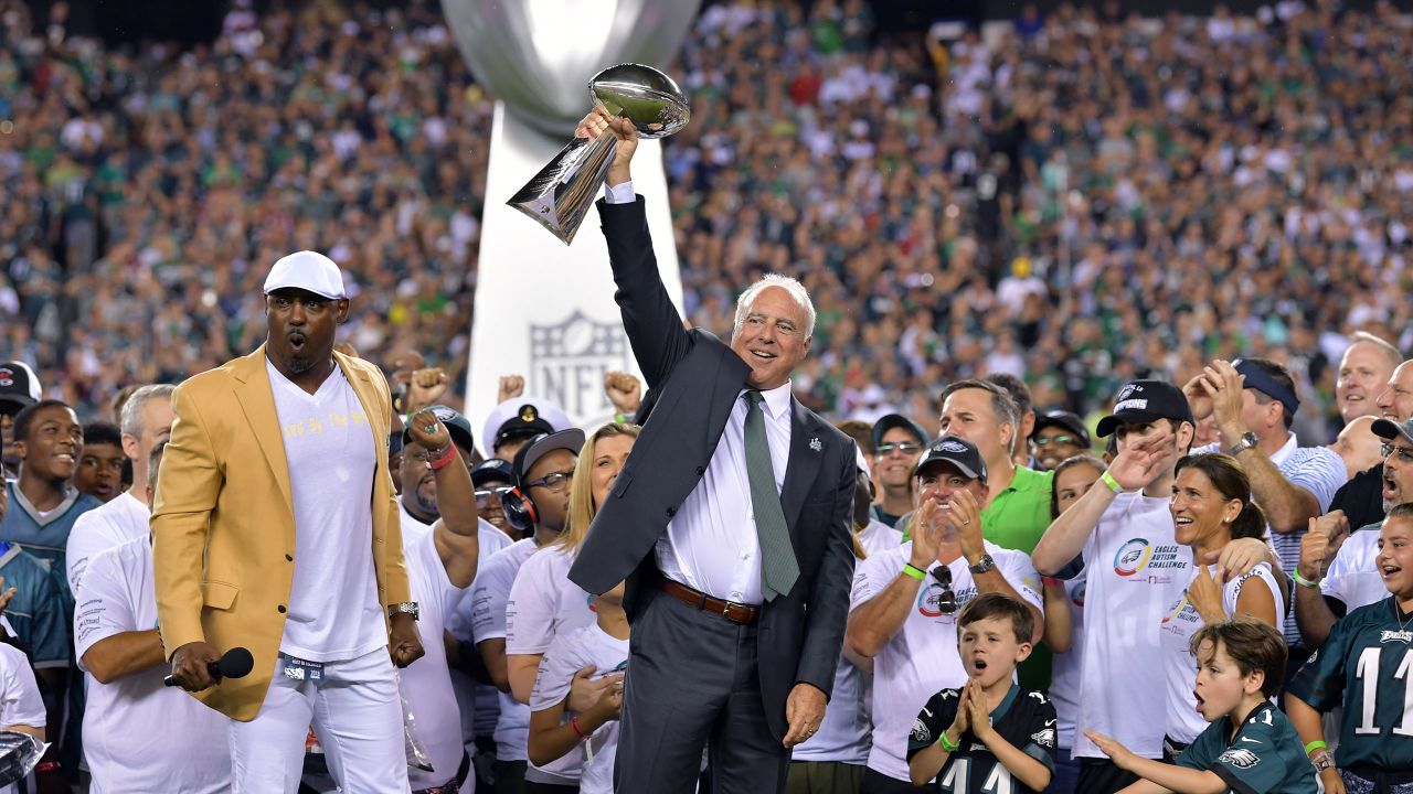 **September 6, 2018:** The Eagles celebrated their first Super Bowl championship before playing the Falcons in Week 1 of the 2018 season