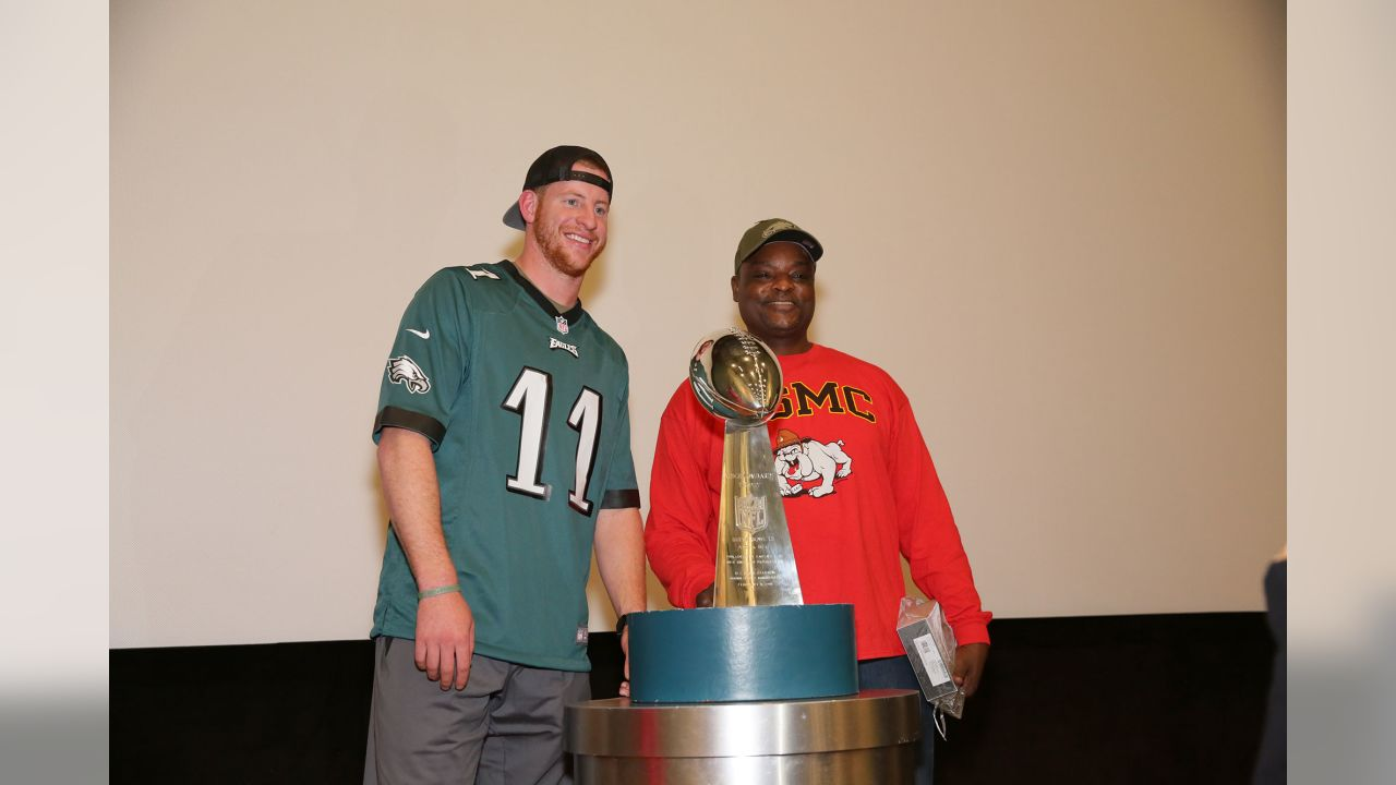 QB Carson Wentz was among the Eagles players to surprise the veterans