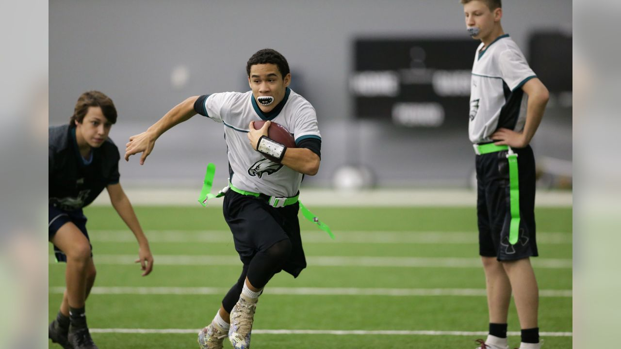 2nd Annual Eagles Flag Football Tournament at the NovaCare Complex on December 15, 2018