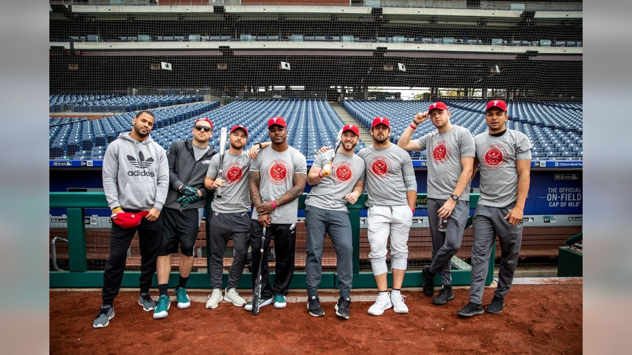 The Philadelphia Eagles participated in the 21st Annual Home Runs for Heart event at Citizens Bank Park