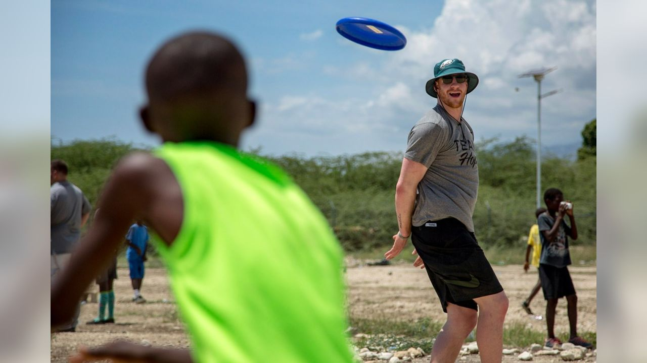 In April, Eagles players traveled to Haiti.