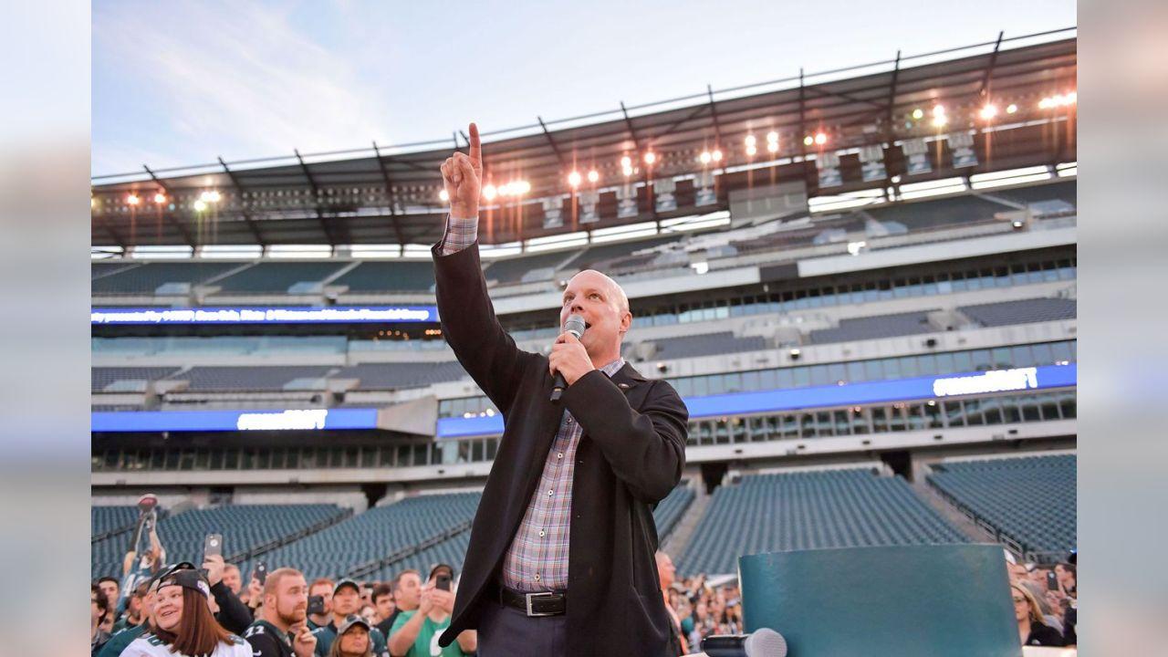 Dave Spadaro kicks off the festivities at Lincoln Financial Field.