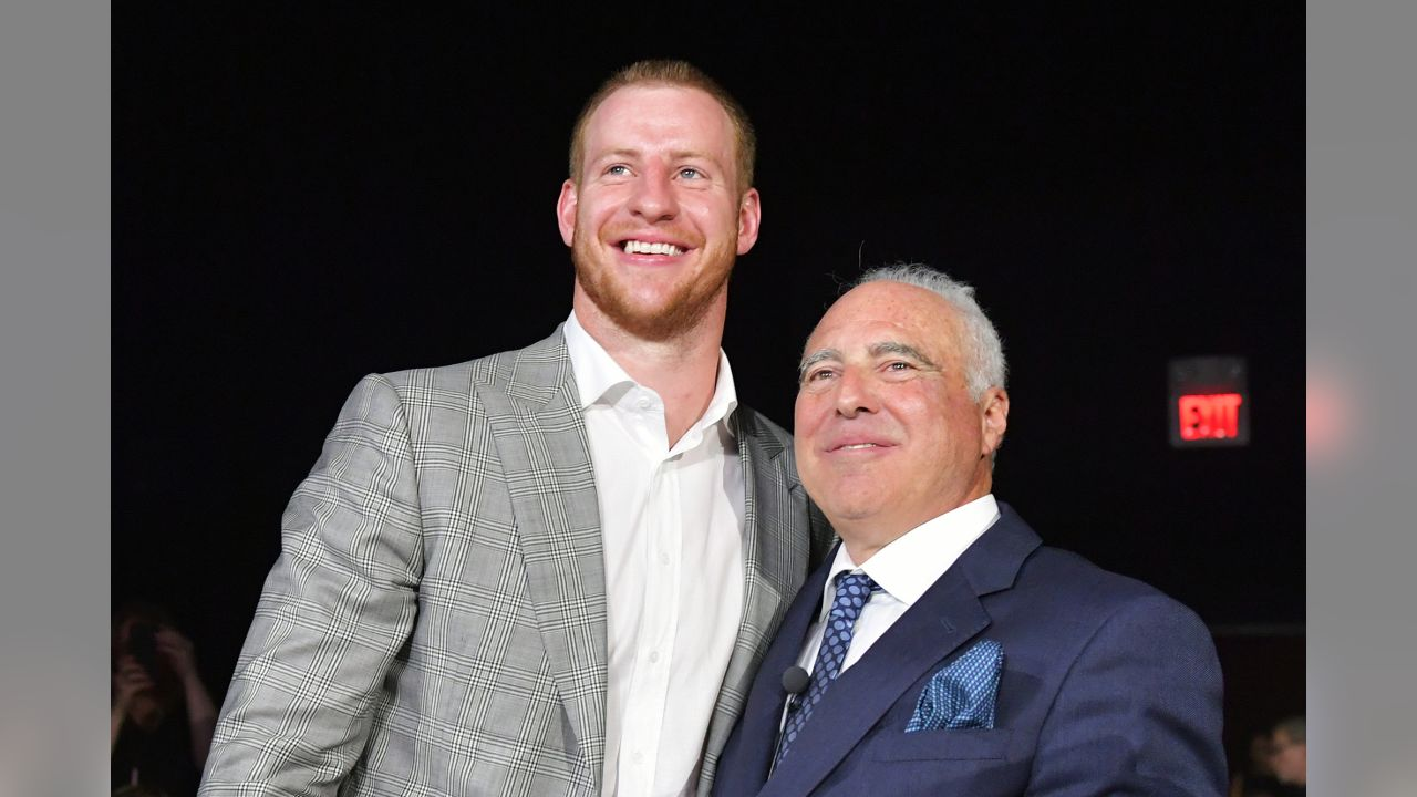 QB Carson Wentz and Chairman and CEO Jeffrey Lurie