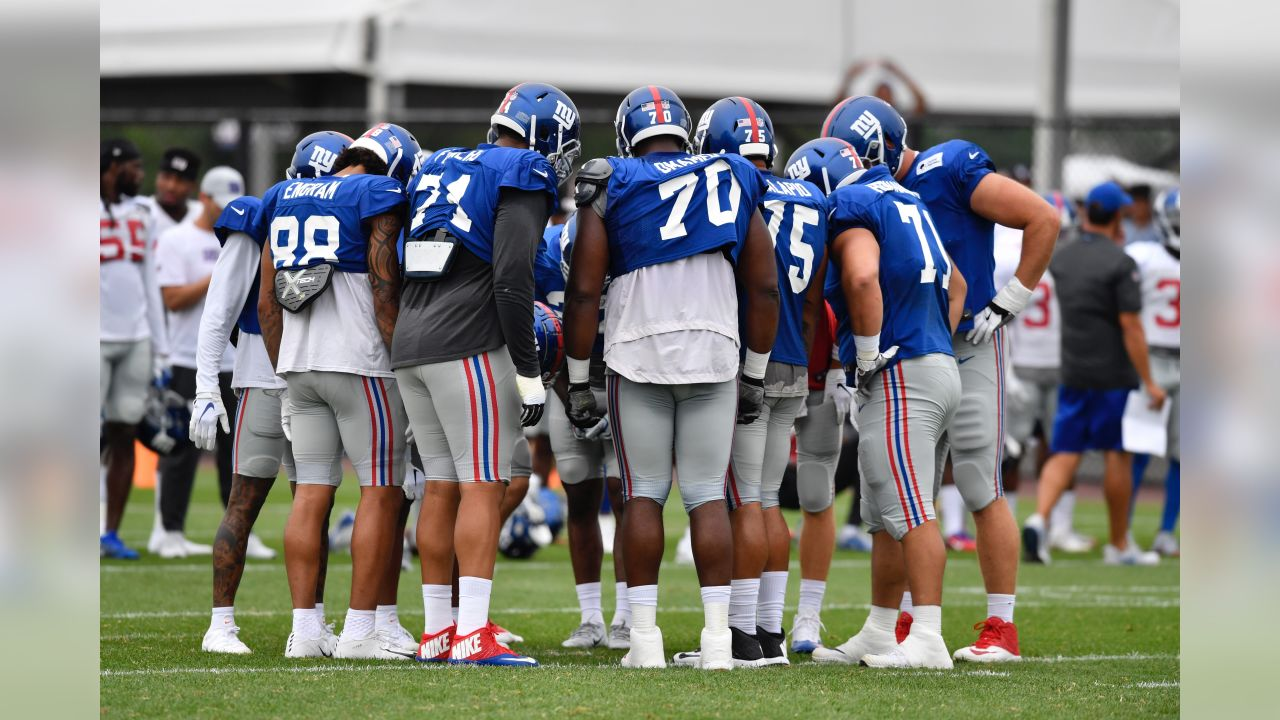 Giants hit the practice field on Monday