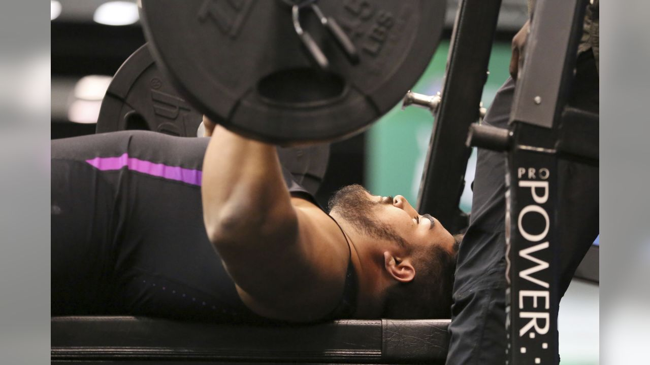 G Will Hernandez: 37 reps (AP Photo/Gregory Payan)